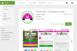 App gratuita de Amicoche para compartir coche